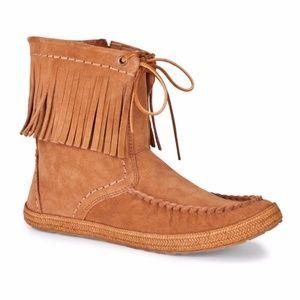 UGG Kaysa fringe Mocassin boot chestnut